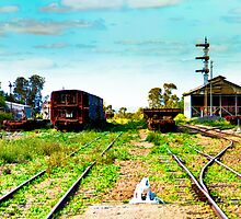 South Australia - Quorn - Abandoned rolling stock  by Geoffrey Thomas