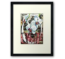O is for Orchid 2 Framed Print