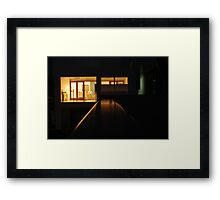 in a city suburb Framed Print