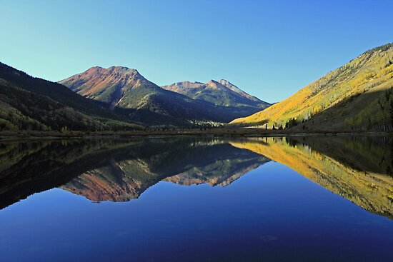 Crystal Lake, Red Mountains, Ouray, Colorado by Mark Bergman