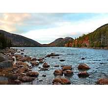 'Jordan Pond and the Bubbles' Photographic Print