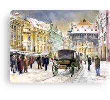 Prague Old Town Square Winter Metal Print