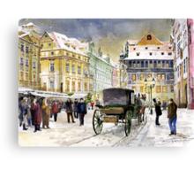 Prague Old Town Square Winter Canvas Print