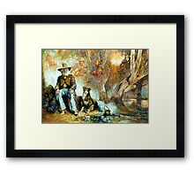 The Singing Swaggie - Waltzing Matilda Series Framed Print