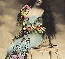 Vintage *Flower Belle in the Clouds* by VintageMoon