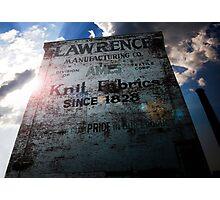 Knit fabrics Since 1828 - Lowell, MA Photographic Print