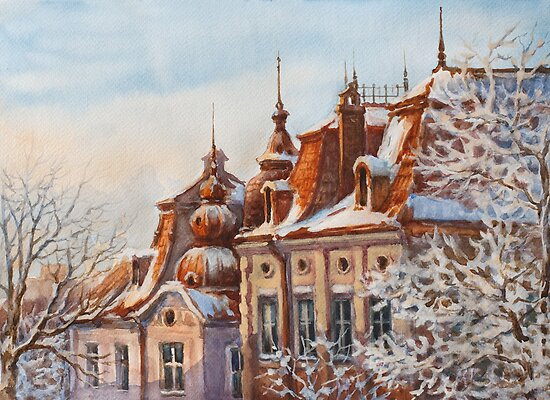 Winter Roofs by Vera Kalinovska