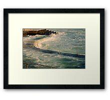 sea,rail,curve Framed Print