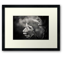 not about smoking... Framed Print