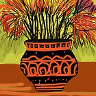 African vase by catherine walker