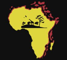 african sunrise t-shirt by ralphyboy