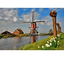 Dutch Mill in Oud Ade Photographic Print