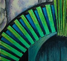 Drain Vent - Oil Pastel by Orla Cahill