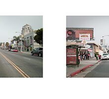 Melrose Avenue + La Brea Boulevard, Hollywood, California, USA...narrowed. by David Yoon