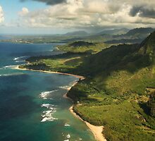 Kauai from the air by Rachael Talibart