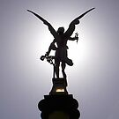 Angel statue, Charles Bridge, Prague by Gordon  Newlands