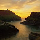 Cornwall: Evening light at Boscastle Harbour by Rob Parsons