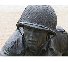 Statue of a Soldier at the WWII Memorial - Invasion of Normandy Photographic Print