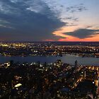 Twilight in the Sky, Sunset From Manhattan, New York City, Empire State Building by Michele Ford