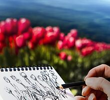 spring sketchings by Bob Wickham