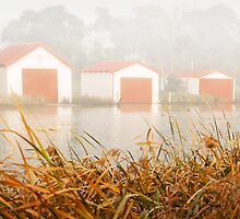 """Morning Boat Sheds"",Anglesea,Great Ocean Road,Australia. by Darryl Fowler"