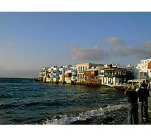 Mykonos Chora ~ Little Venice Photographic Print