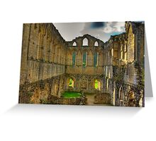 The Refectory - Rievaulx Abbey Greeting Card
