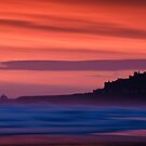 Red Dawn - Bamburgh Castle by David Lewins LRPS