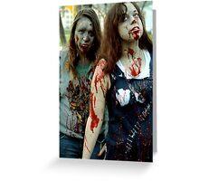 A Pair In Death Greeting Card