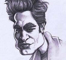 Robert Pattinson caricature by Alleycatsgarden