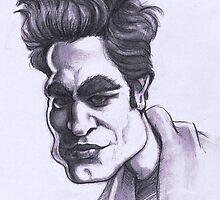 Robert Pattinson caricature by Alleycatsgarden