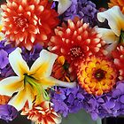 Clearly Summer, Dahlias &amp; Lily #3 by Suzanne Lewis