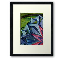 Abstract Geometric Flower Framed Print