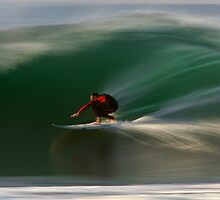 Surfing at Rincon by David Orias