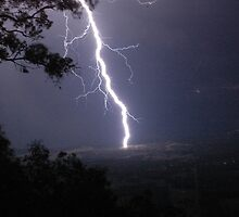 Electrical Storm from Macleans Lookout by CasPhotography