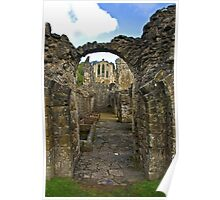 Through The Passageway - Rievaulx Abbey Poster
