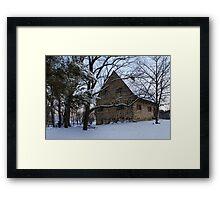 Rustic Winter Scene Framed Print