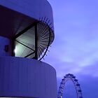 London Eye Deep Purple by Eyeswide