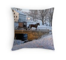 Horse and Buggy Throw Pillow