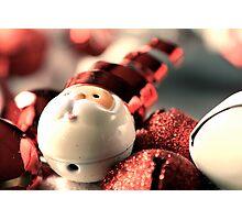 Santa's Wreath Photographic Print