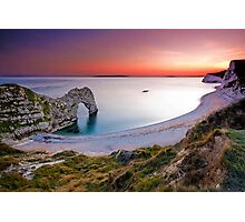 Durdle Door Sunset Photographic Print