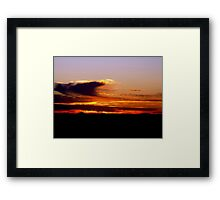 sunrise V ( while I was waiting for the sun to rise)...  Framed Print