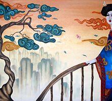 Geisha and the Mountains by Octavio Velazquez