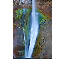 Desert Falls Abstract Patterns and Colors, Calf Creek Falls, Utah Photographic Print