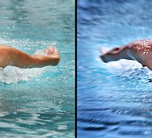Swimming: before and after by Fabrizio Calicchia