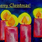 Christmas Card - Candles in Advent by Caroline  Lembke