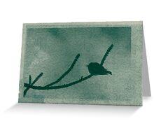 Little Bird On Pine Branch Greeting Card