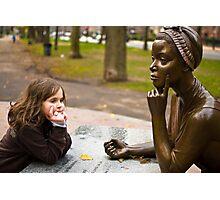 Thinking girls Photographic Print