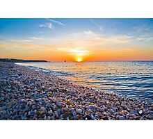 Rocks and Sky - Cedar Beach, Long Island, New York Photographic Print