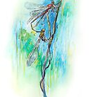 Damselflies - Fly Fisher Series 2 by Pieter  Zaadstra
